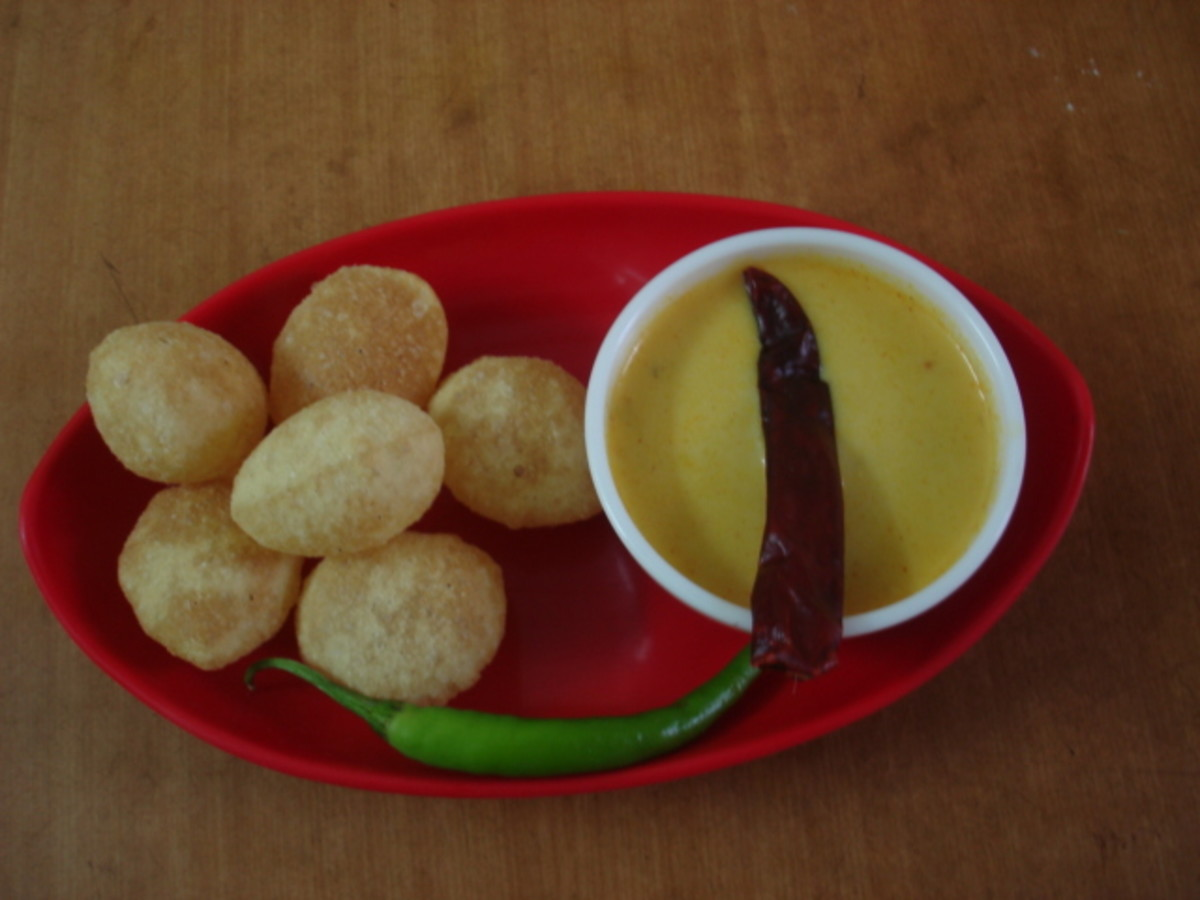 Daal served with puri