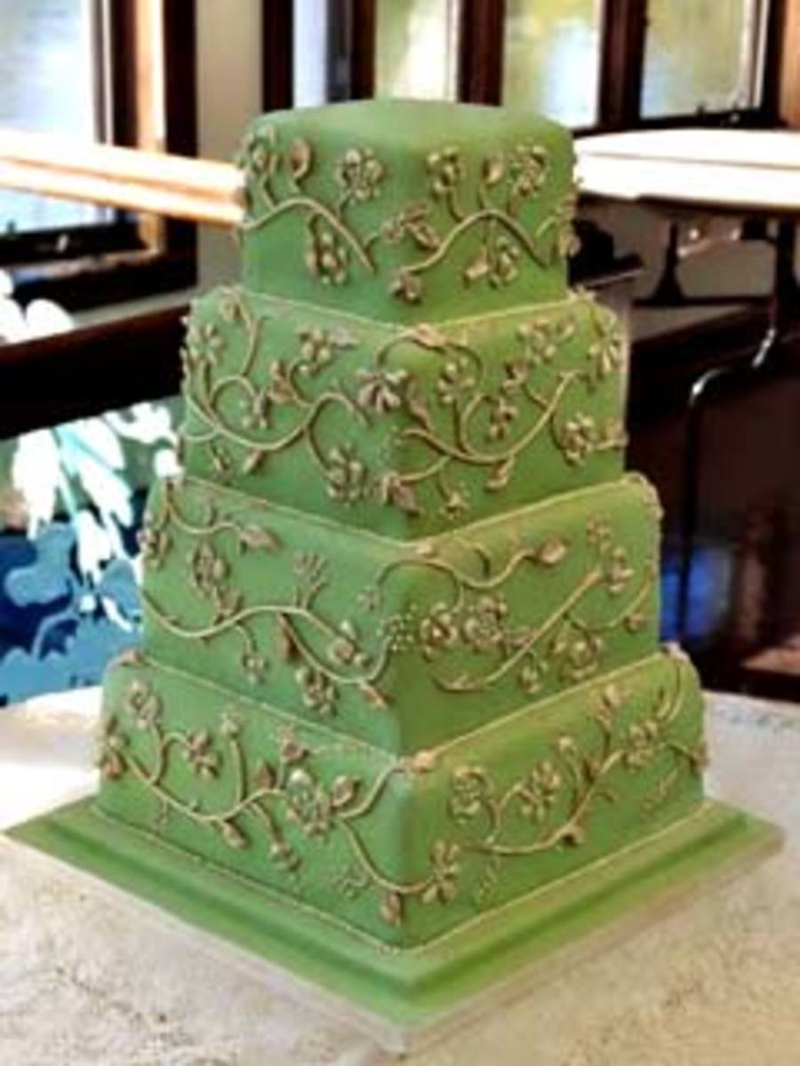 olive green and gold wedding cake top ten wedding color combinations hubpages 17999