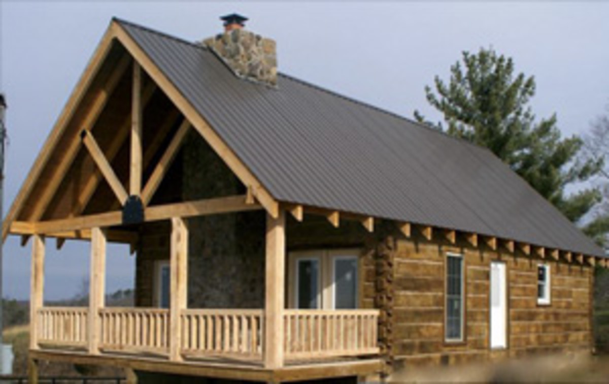 Old Kentucky Log Cabin built at McCloud Mountain, Tennessee