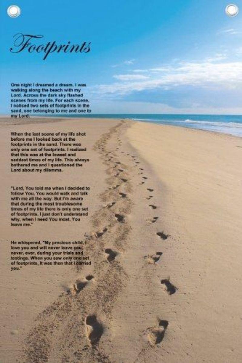 Click to Buy Footprints Print at Amazon