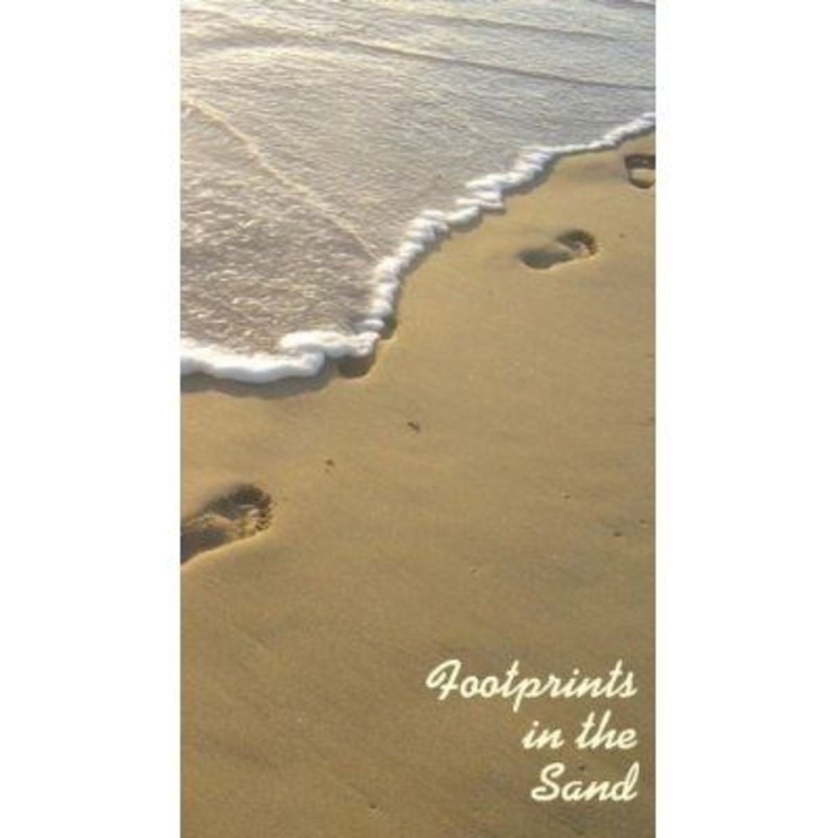 Buy Footprints in the Sand Wallet Size Cards