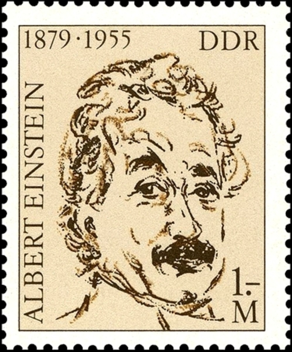 Einstein stamp from Germany