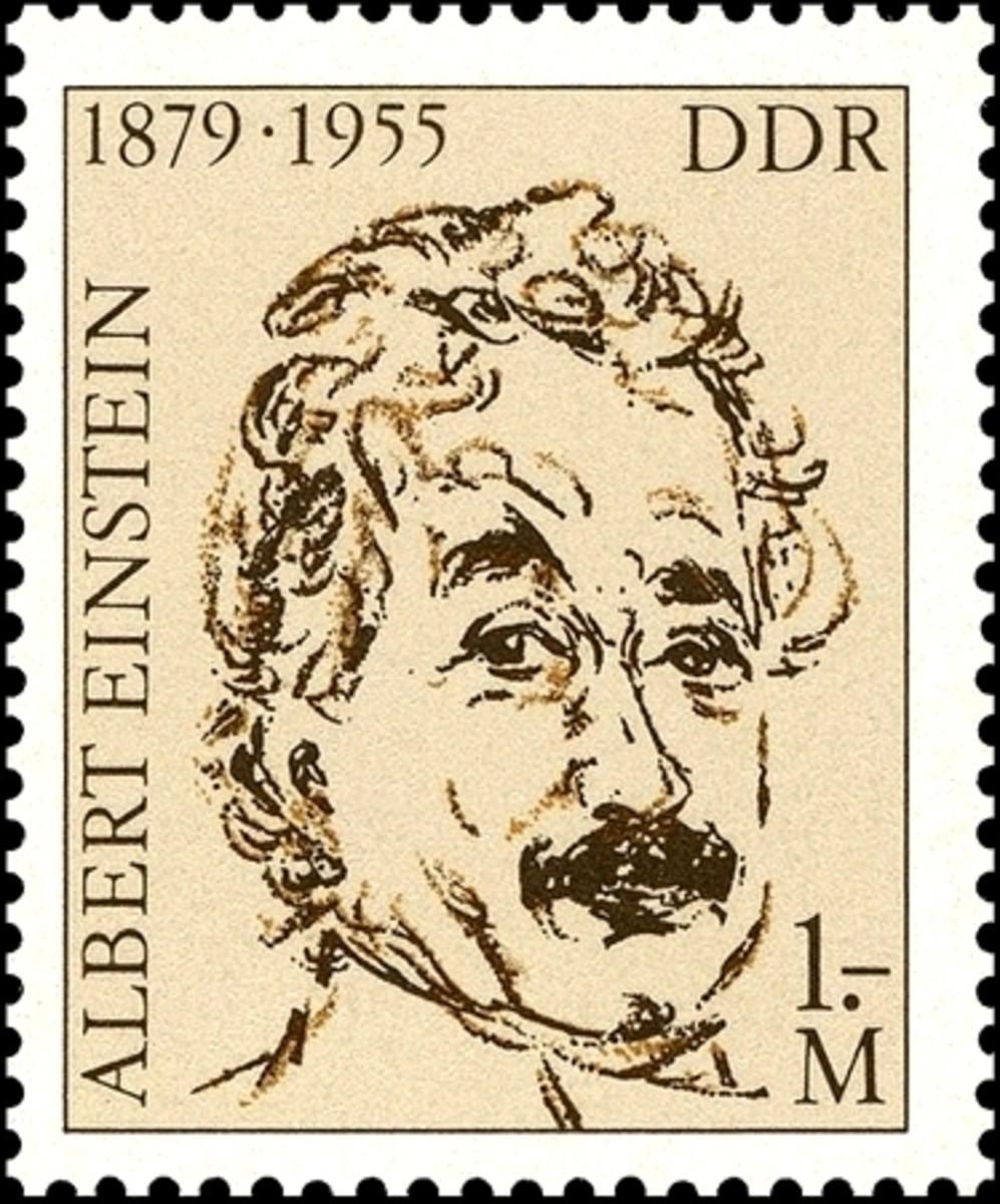 Einstein stamp from Germany