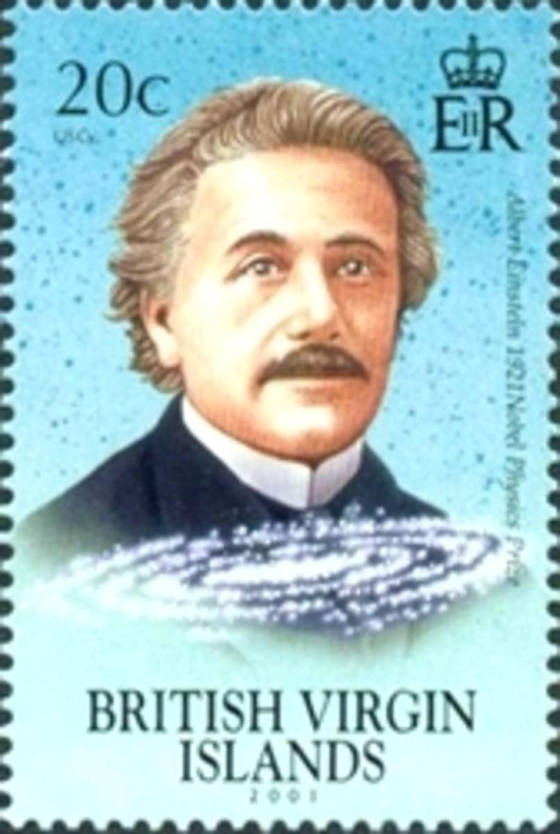 Einstein stamp from Virgin Island