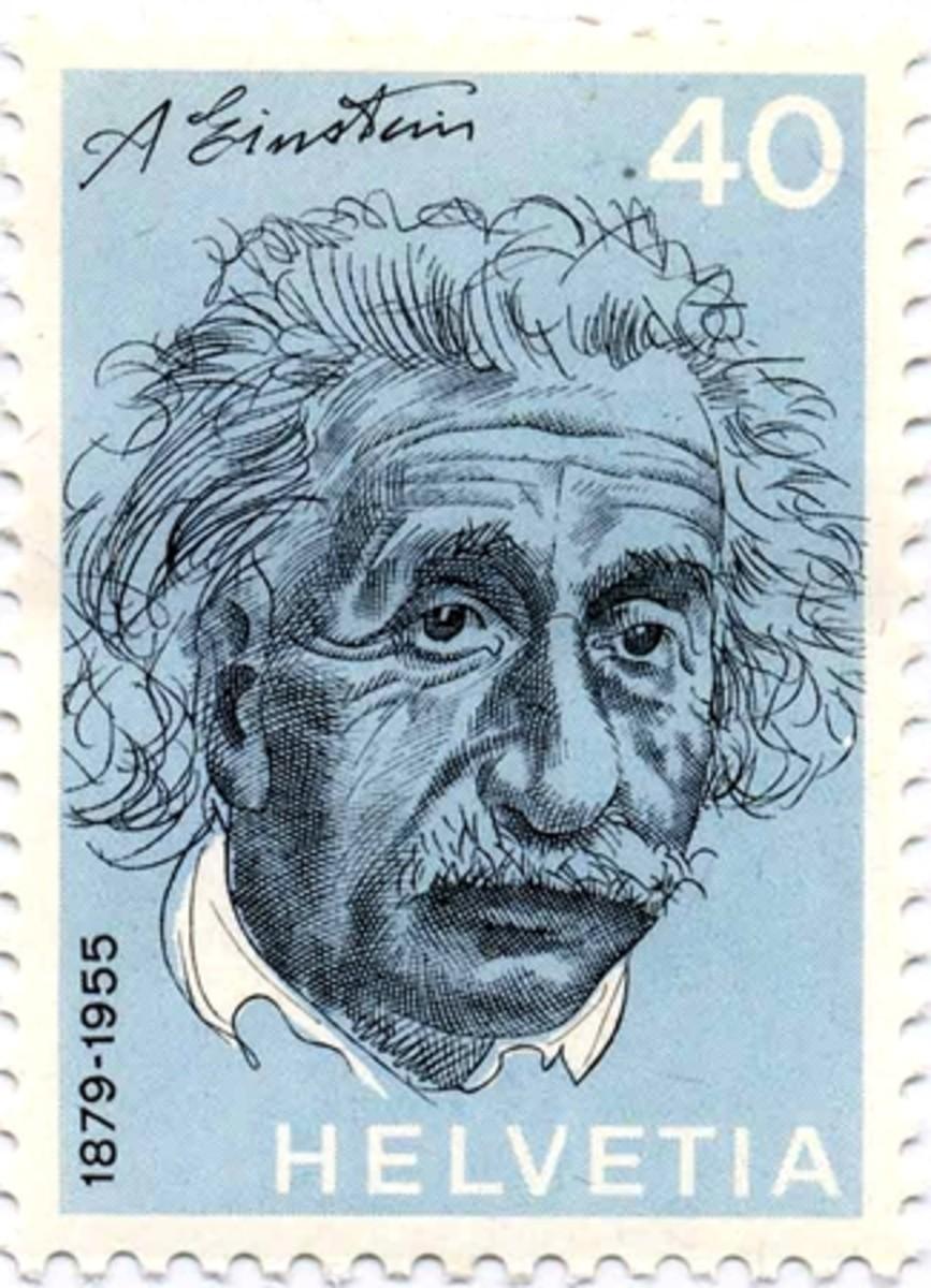 Einstien Stamp from Switzerland