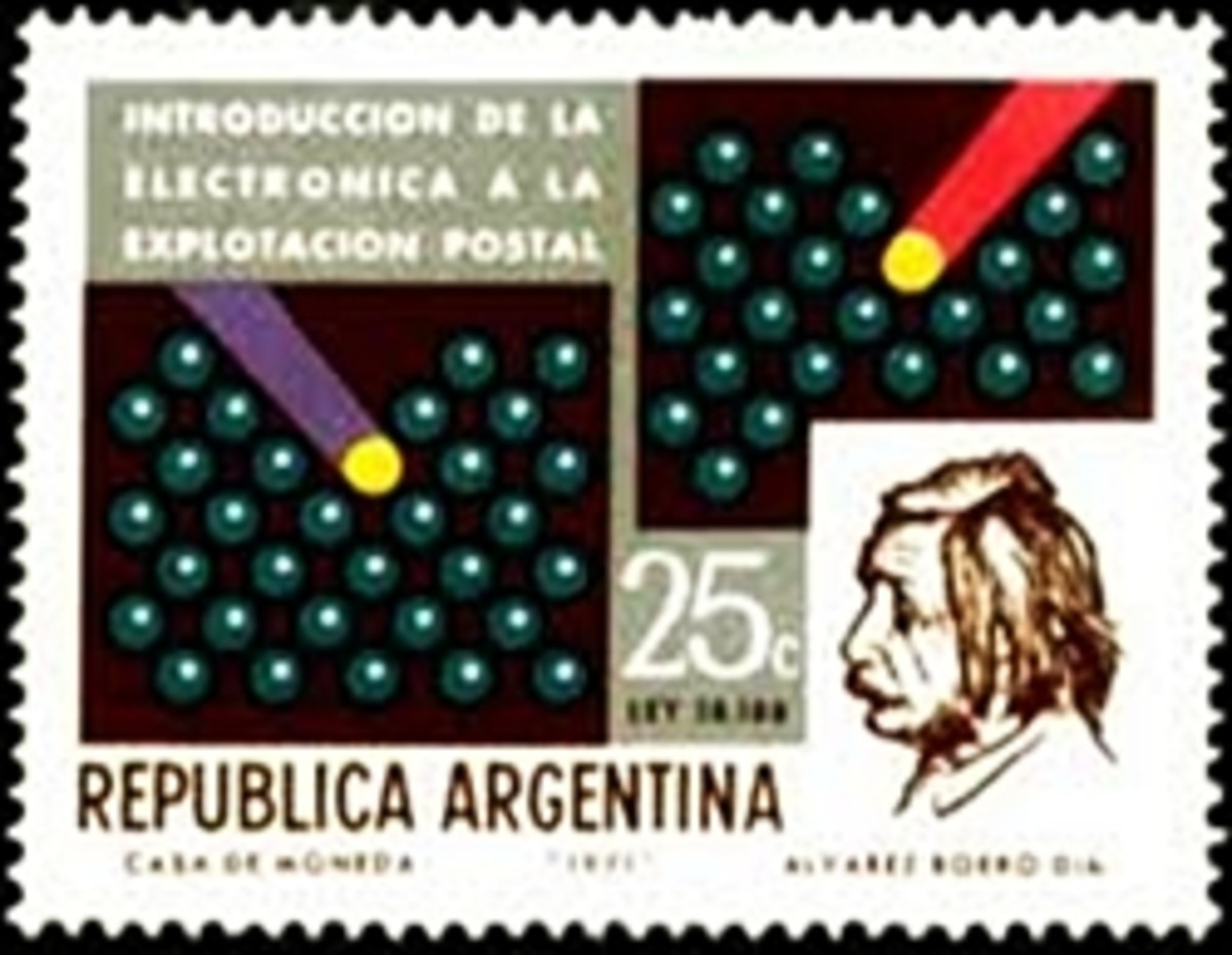 Einstien Stamp from Argentina