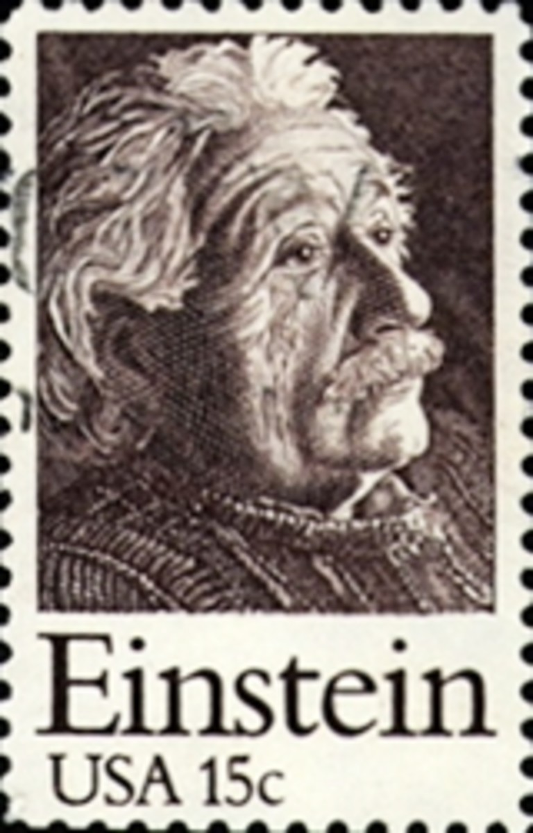 Einstein stamp from USA