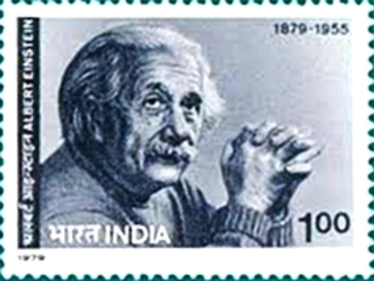Einstein stamp from India