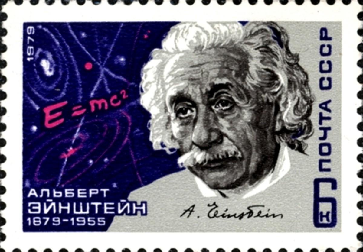 Russian stamp on Einstein