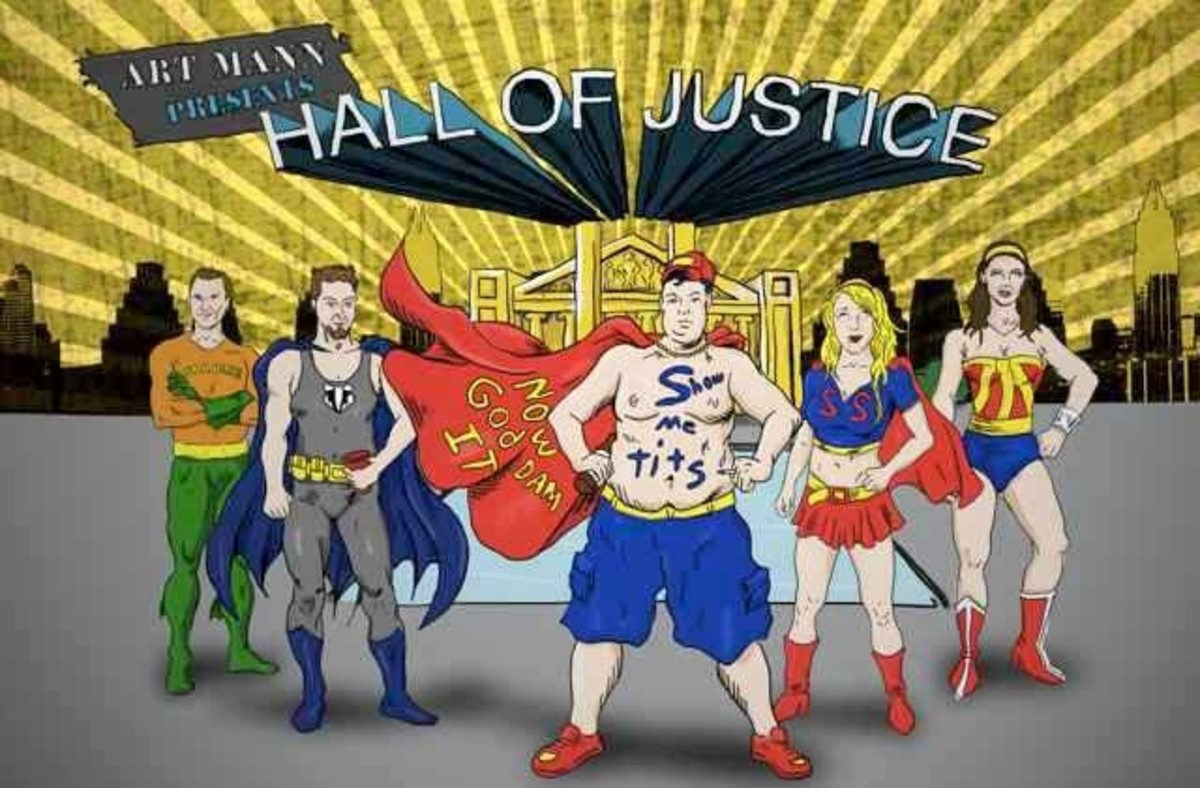 The Hall of Justice logo