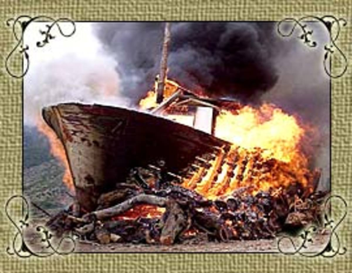 The famous boat burning ceremony, which takes place every December 6th in Komiža.   This is a traditional festival and the TV news crews come over to island Vis to enjoy event in the warmer Mediterranean climate.