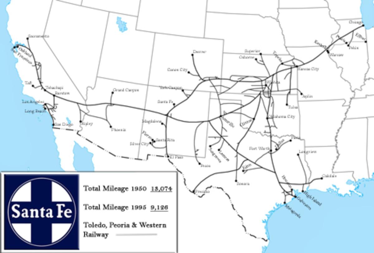 Map of Santa Fe System.