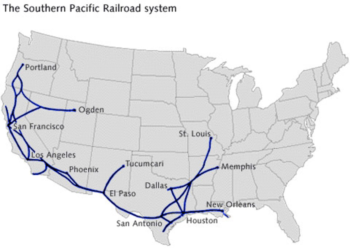 Southern Pacific system map.