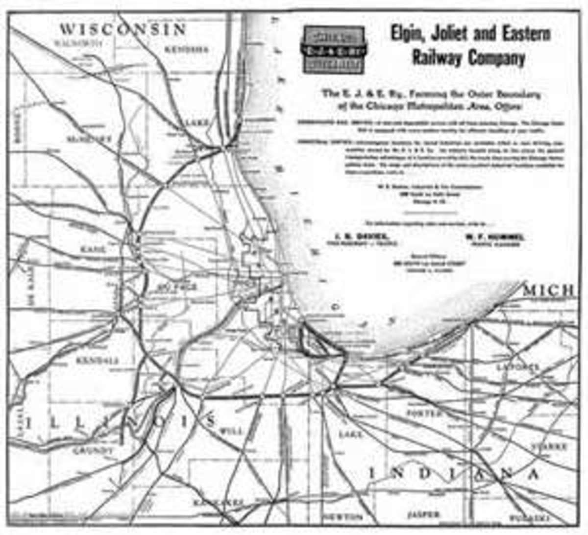 EJ&E Chicago area Connections