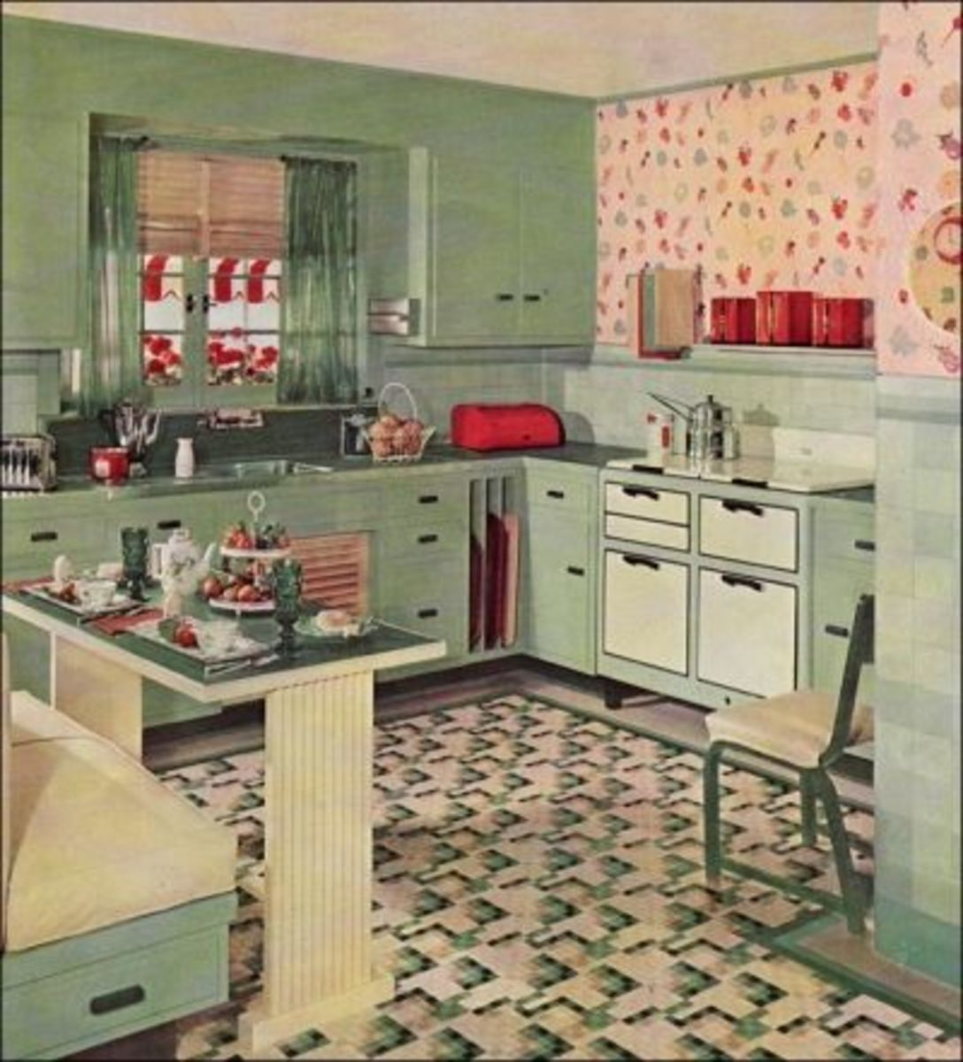 A Thirties Kitchen was an inspiration for the signature green that helped build Martha's empire.