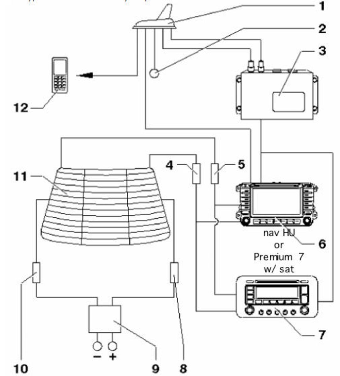 Schematic for 2006 Jetta with satellite radio