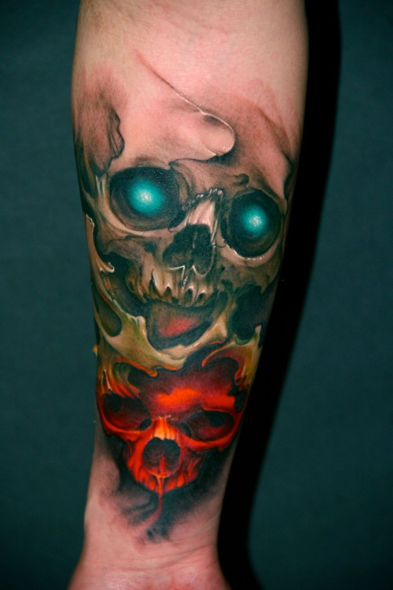 Skull Tattoo Designs And Ideas-Skull Tattoo Meanings And Pictures