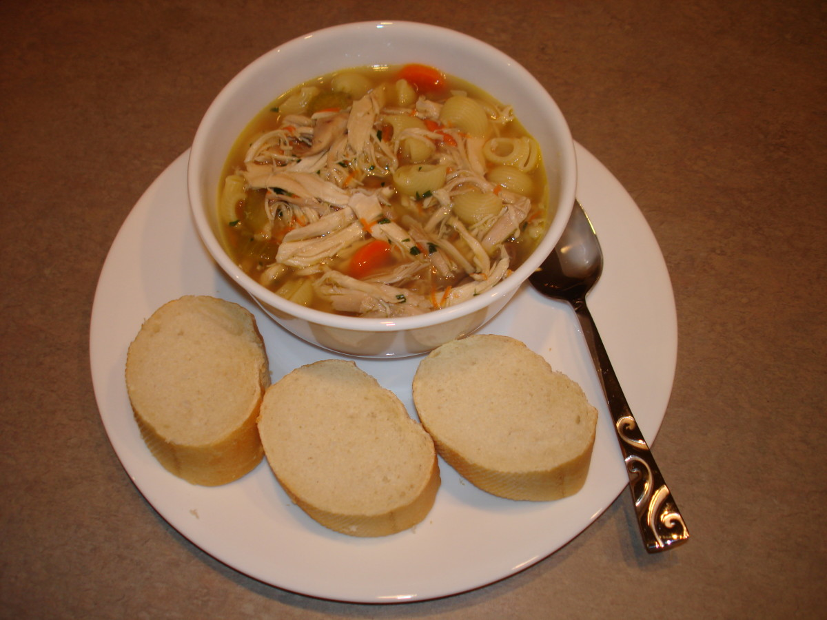 Hungarian Food - Chicken Soup, Ujhazi Style (Újházi Tyúkleves)