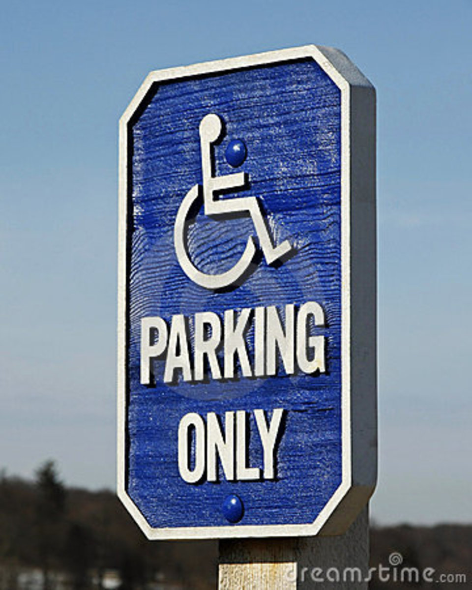 "DON'T FORGET to ask your doctor to sign for a handicap placard hangtag or license plate. Even if you don't use it each time, it is good to have for those days when you will ""need"" it. Multiple Sclerosis is very unpredictable."
