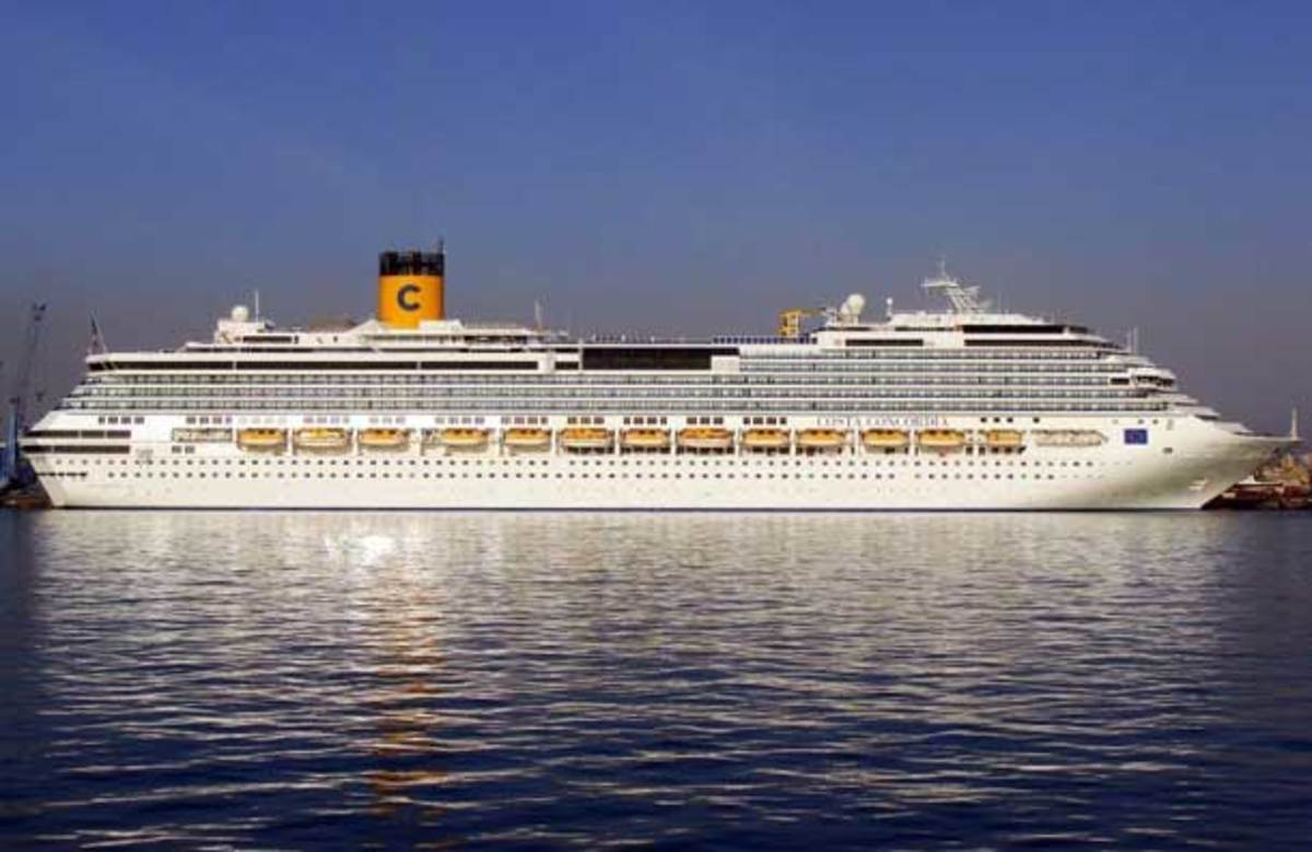 Costa Concordia Cruise Ship, owned by Carnival Cruise Line. A fantasy vacation