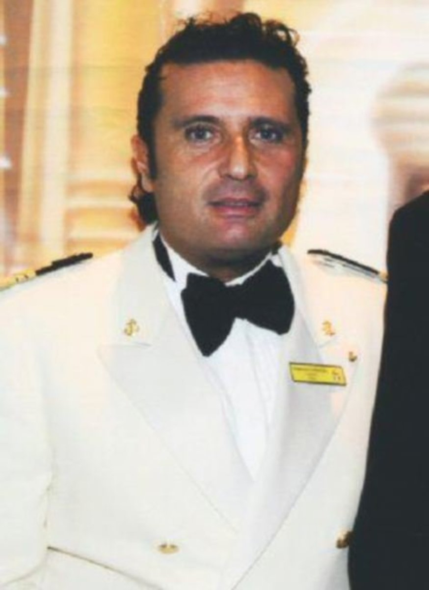 Captain of the Costa Concordia cruise ship, 52 year old Francesco Schettino. He worked for the cruise line since 2002, and was promoted to captain in 2006.