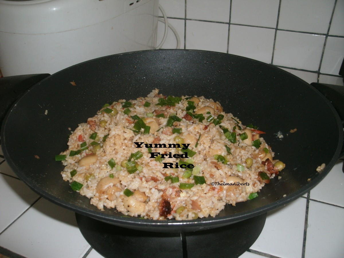 Fried Rice from leftover rice.