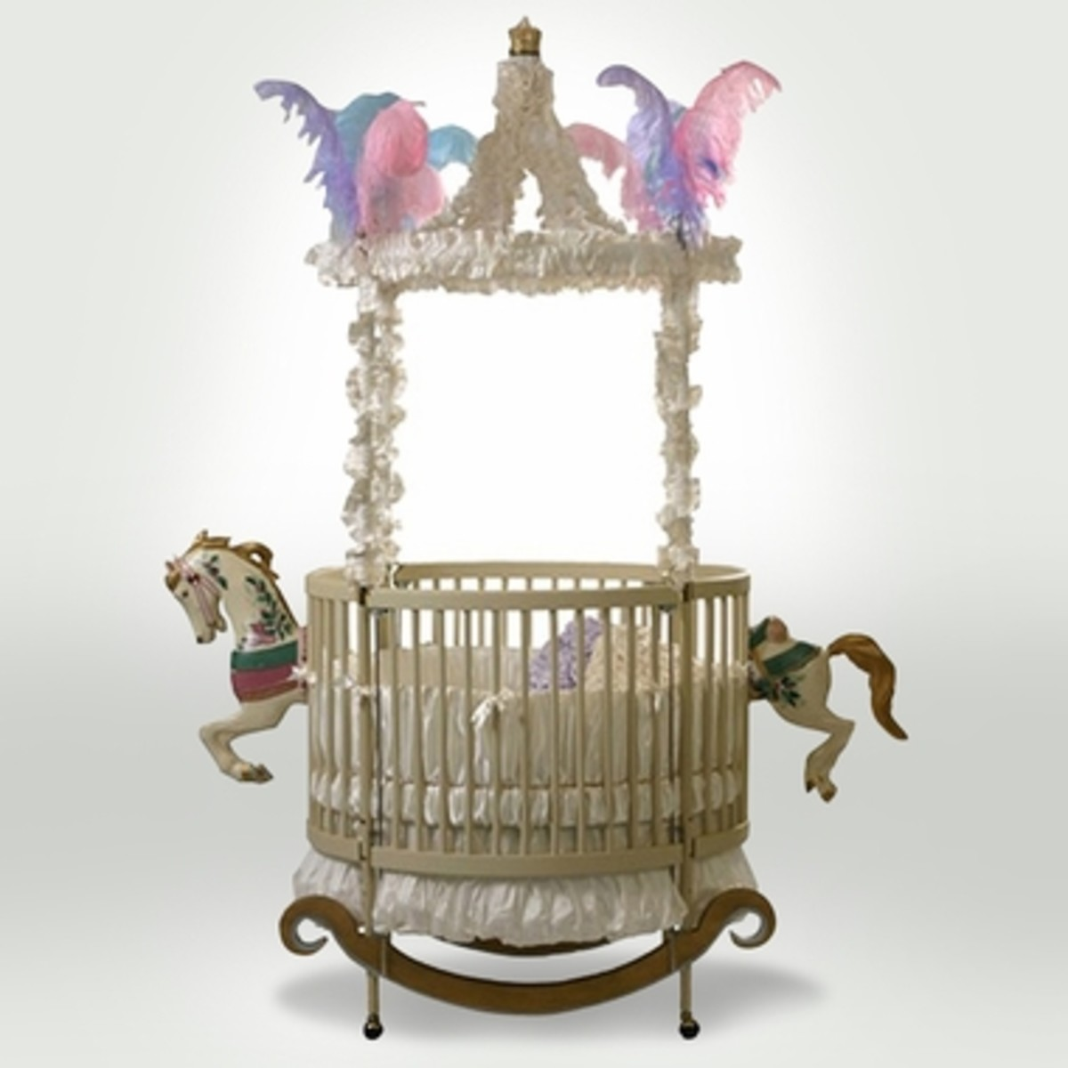 The Round Carousel Horse Crib