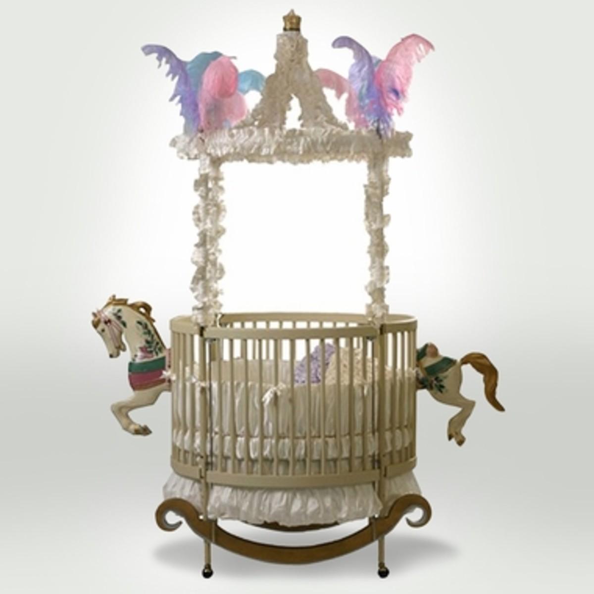 The Round Carousel Horse Crib