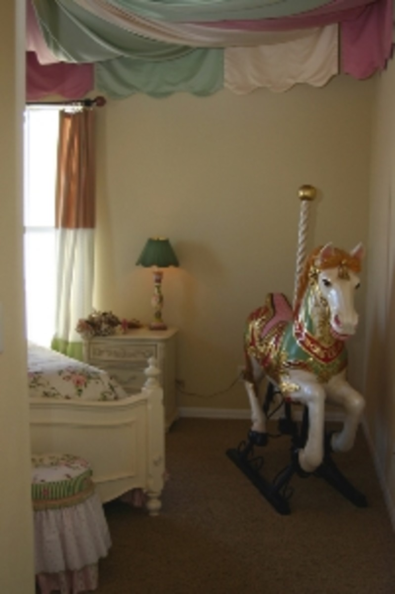 Carousel horses come in many shapes, sizes, and price ranges