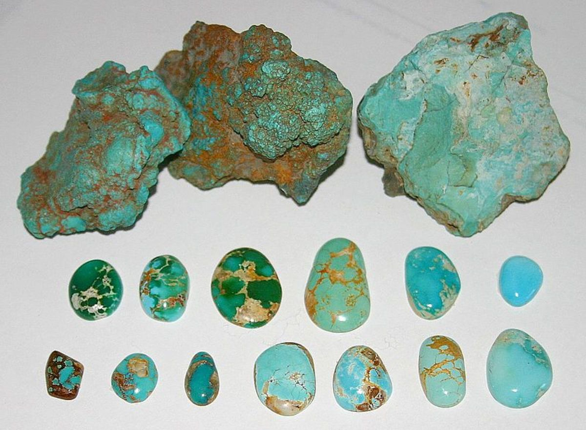 Untreated turquoise from Nevada.