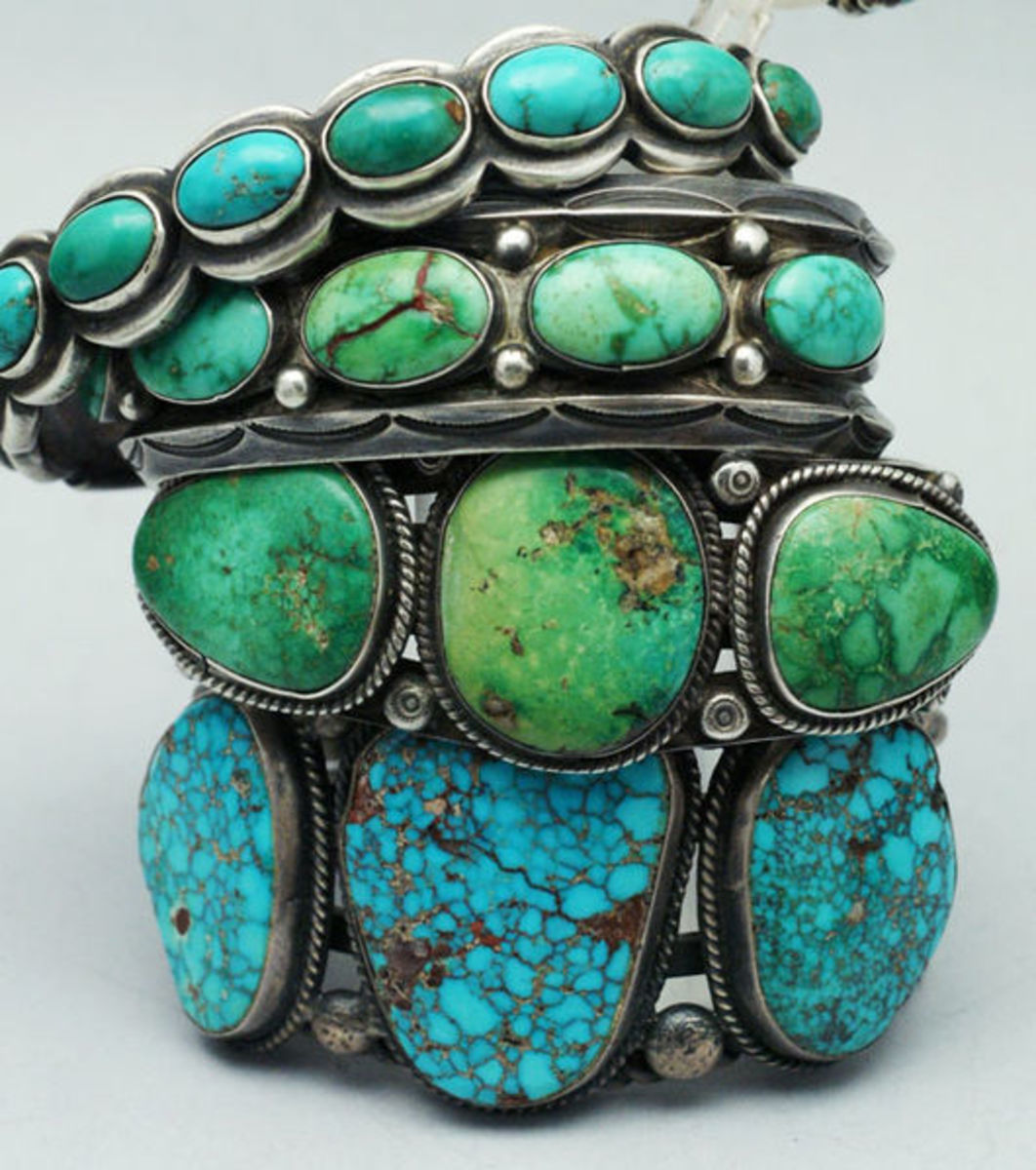 Turquoise Jewelry - made by Native Americans