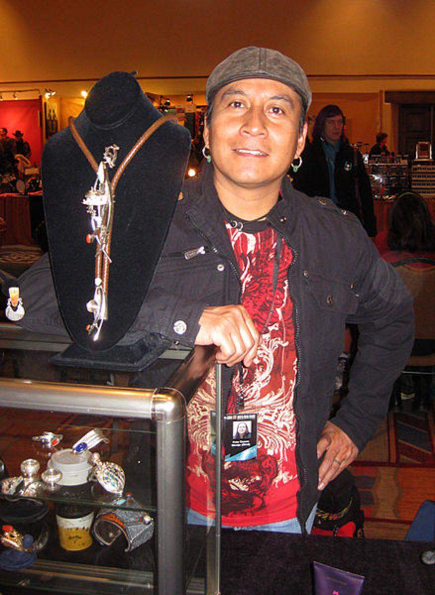Fritz Caruse, Navajo  jeweler, Santa Fe, New Mexico