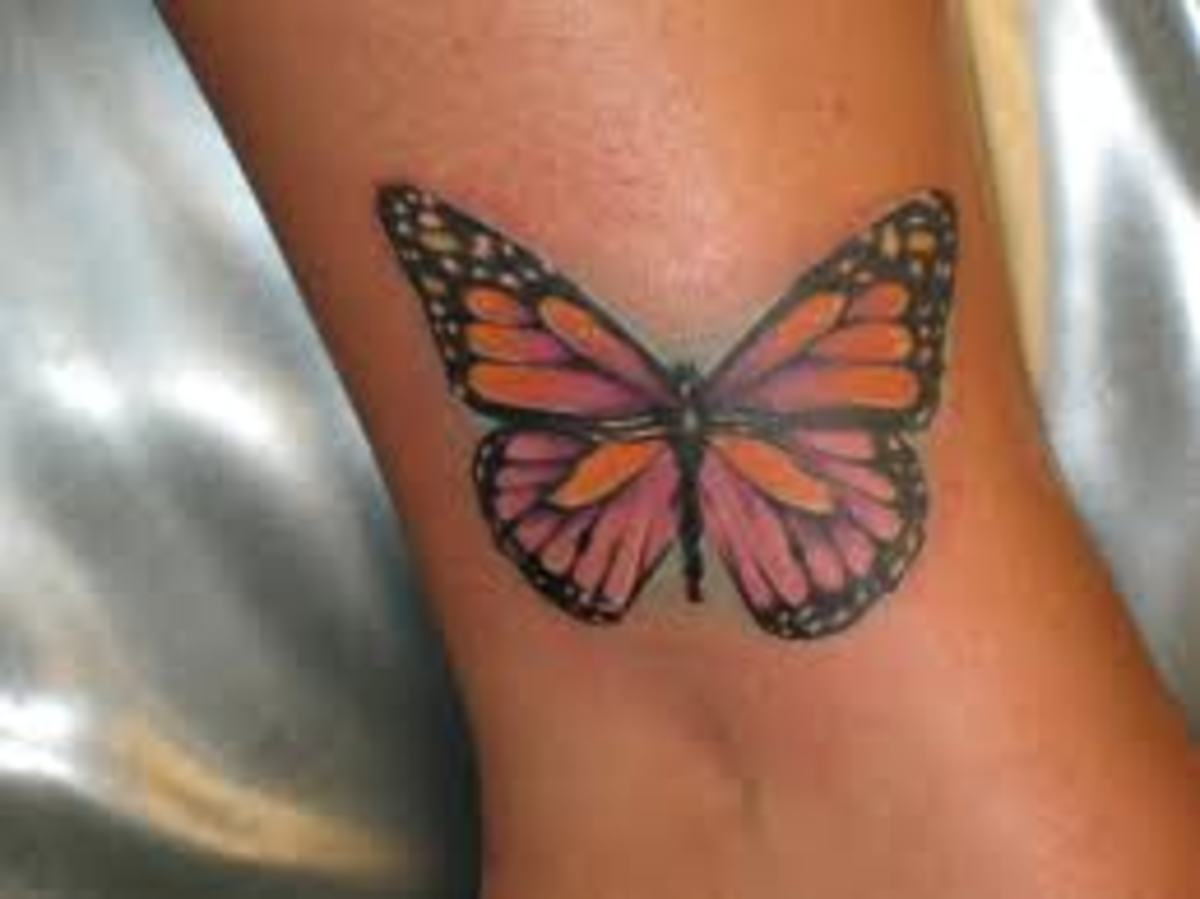Great Butterfly Ankle Tattoos, Ideas, And Meanings; Butterfly Tattoos And Beautiful Designs