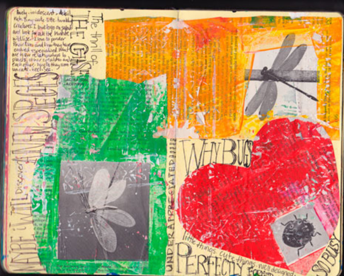 Jane Davenport - an artists journal page
