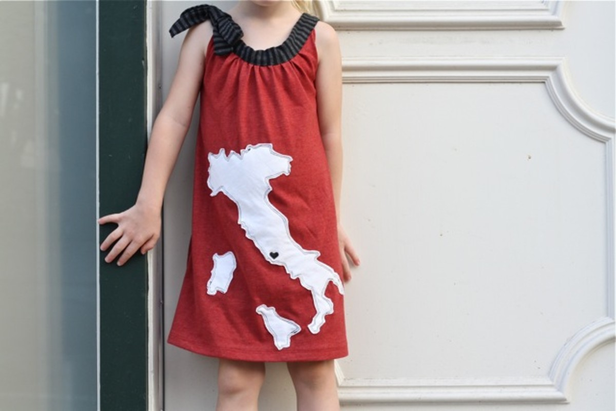 Warhol Dress Free Sewing Pattern and tutorial for little girls