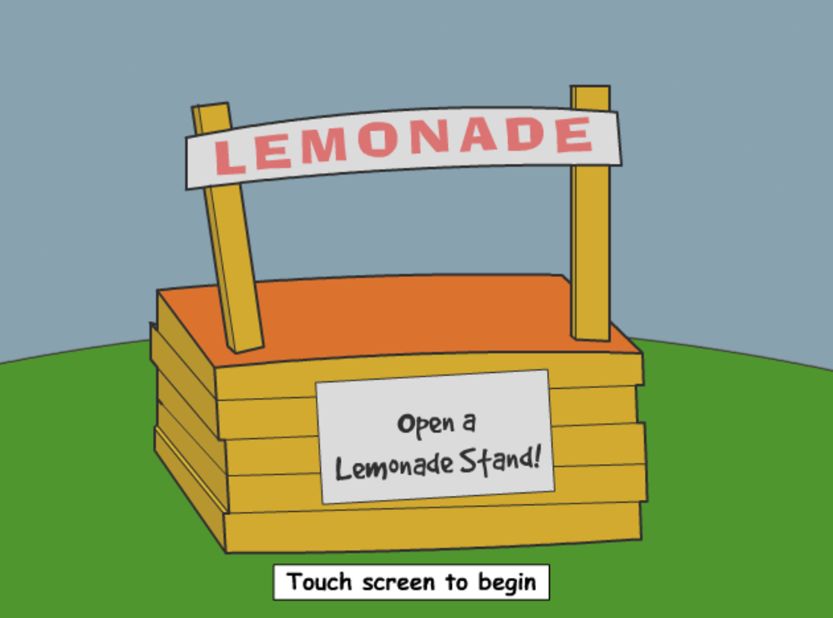 Interactive lemonade game