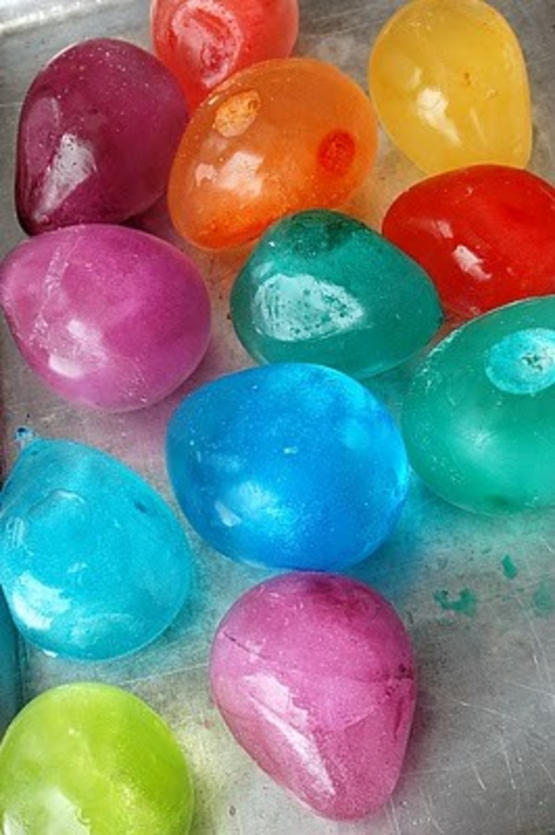 Kids Crafts; How to make colorful ice balloons