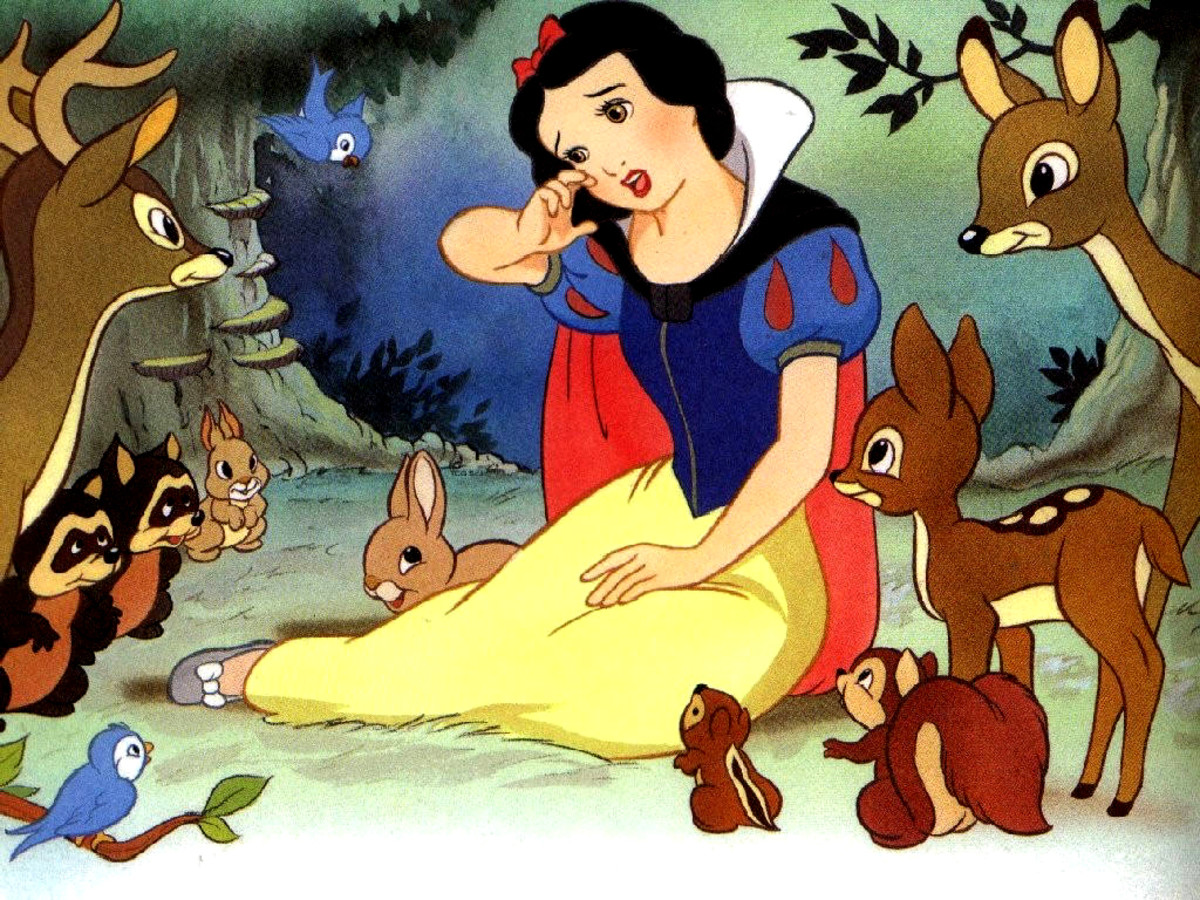 A scene from Disney Classic Animated Film: Snow White and the seven dwarfs.