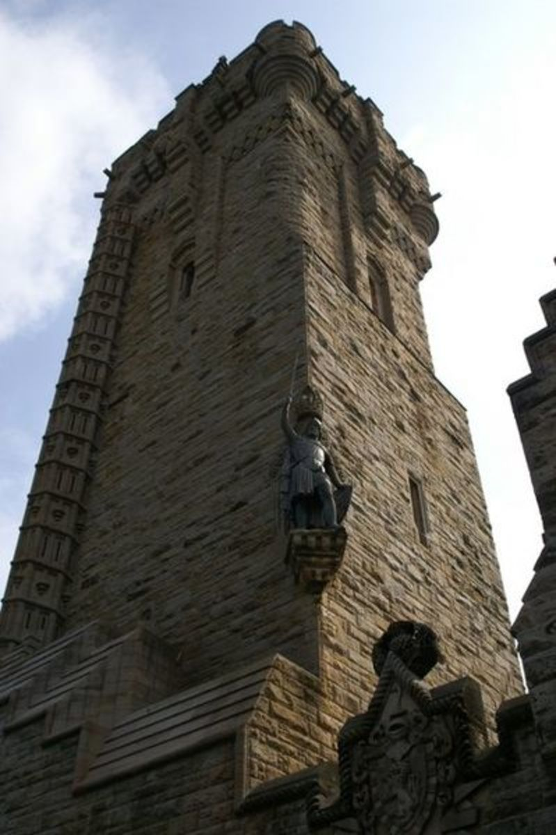The William Wallace Memorial that overlooks Stirling Bridge.