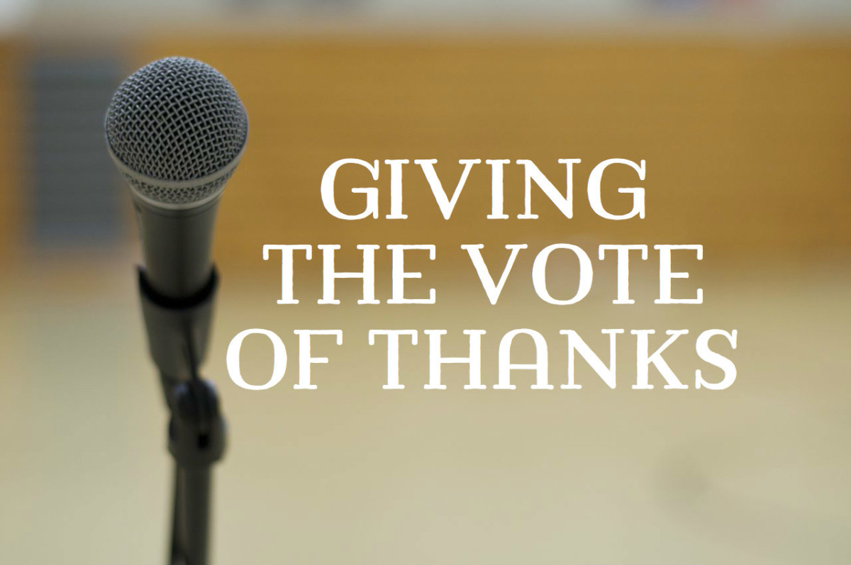 How to Give a Vote of Thanks