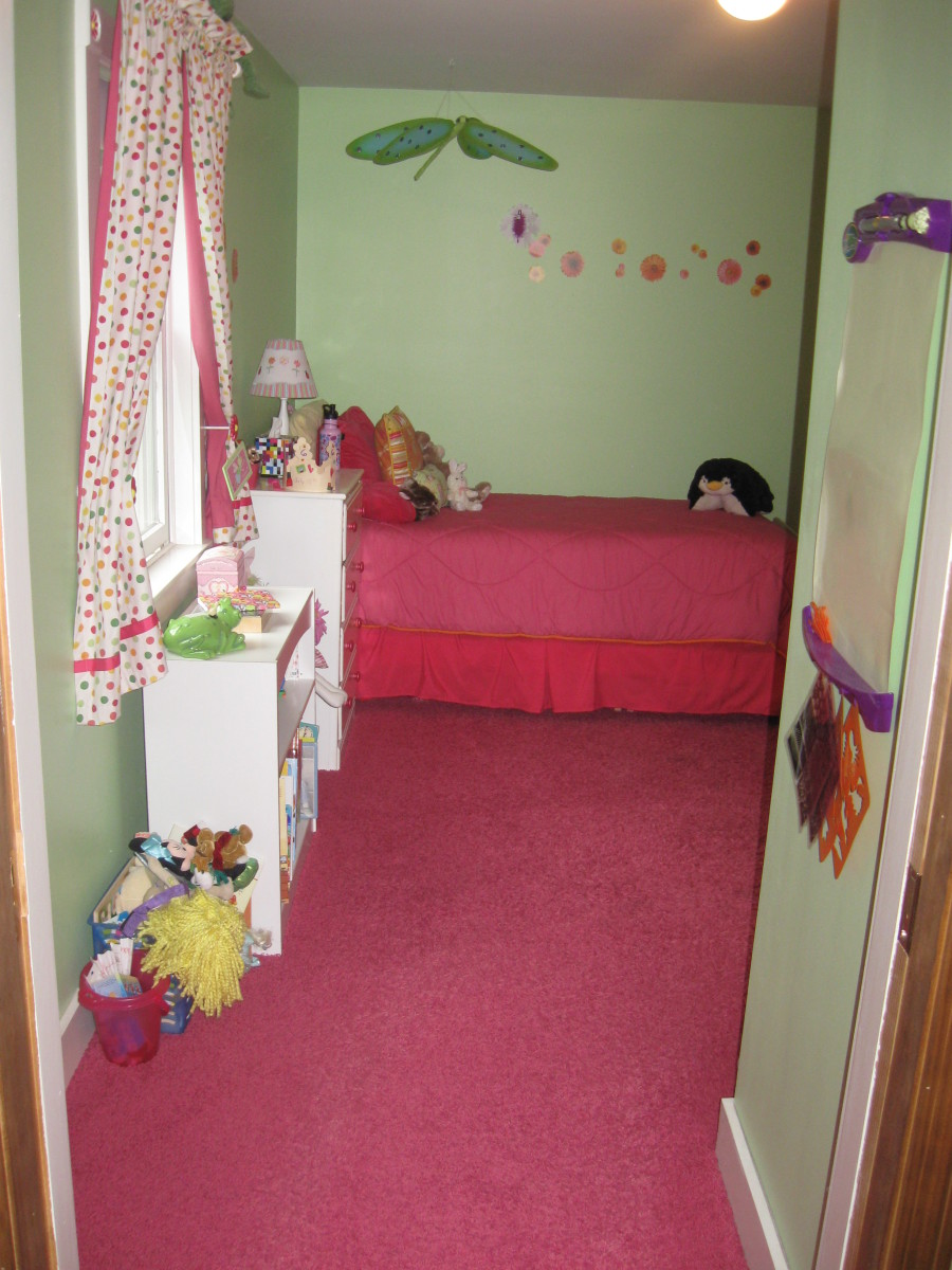 Here's another room that was probably great for a little girl...