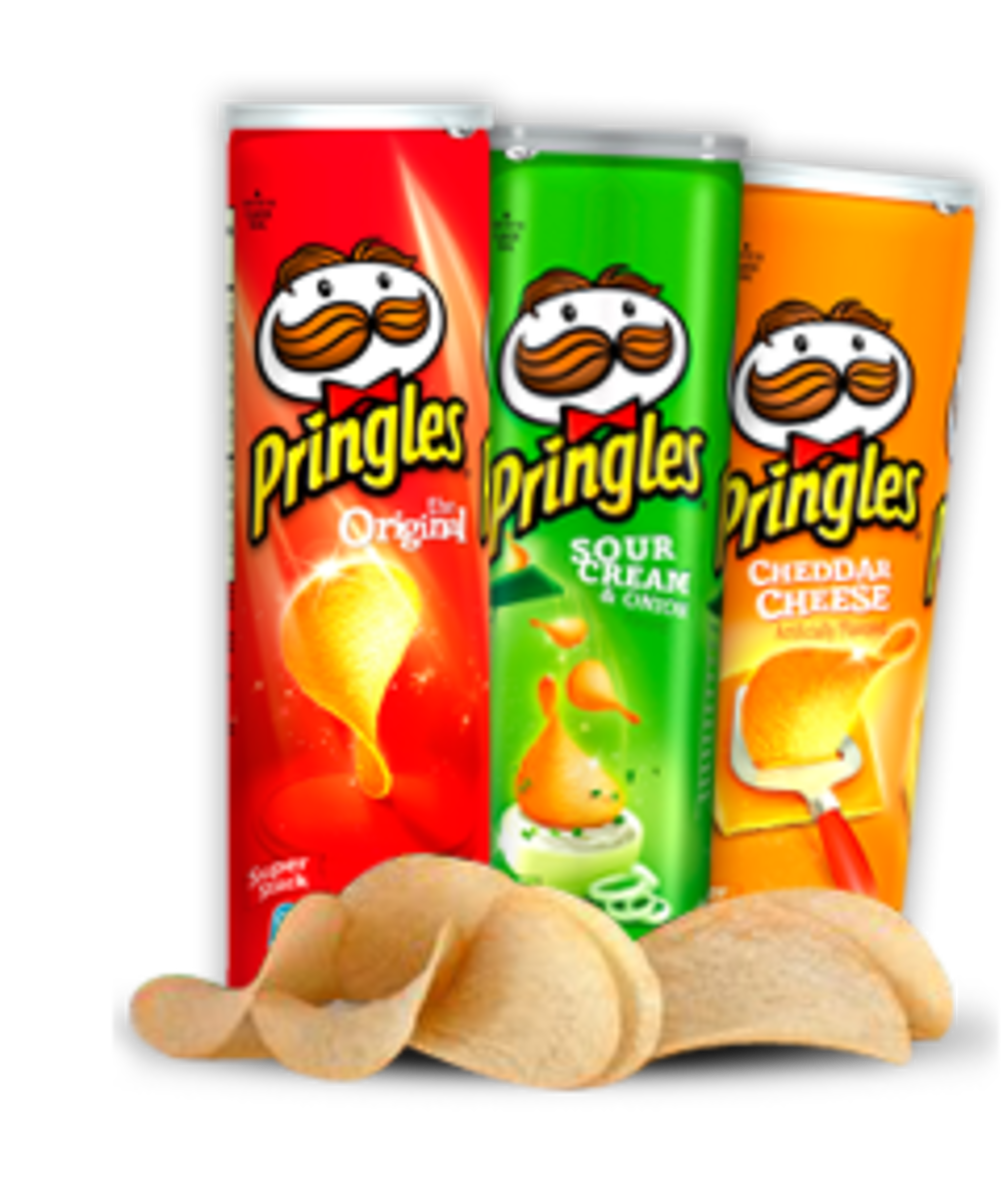 A Pringles canister makes a great cylinder-shaped candle mold.