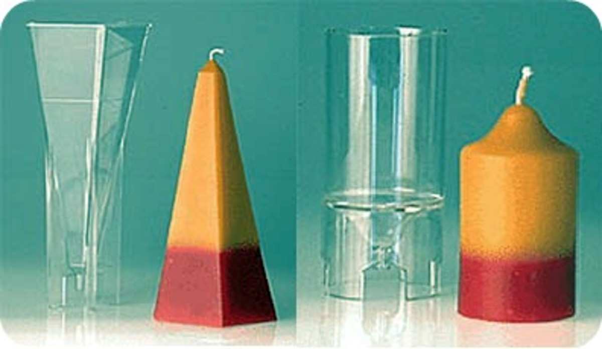Polycarbonate candle molds