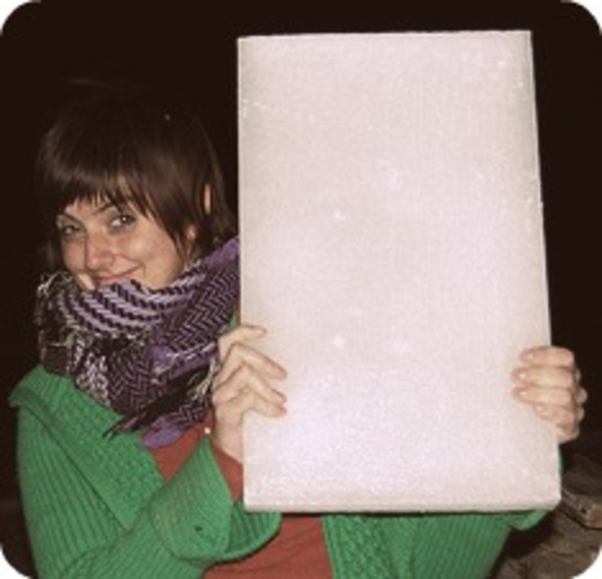 Mischievous person wielding a block of wax