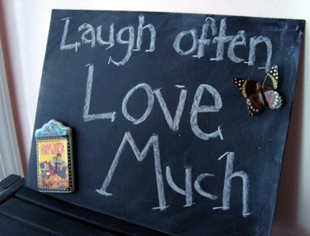 Metal Chalkboard Sign