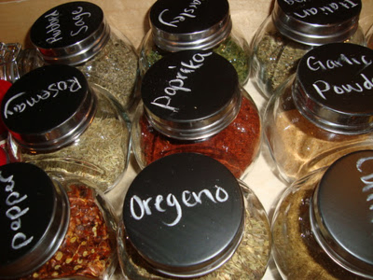 Chalkboard Spice jar Lids