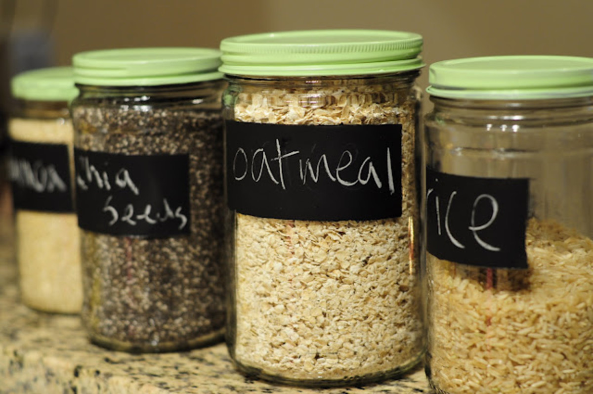 Chalkboard labeled Food Containers