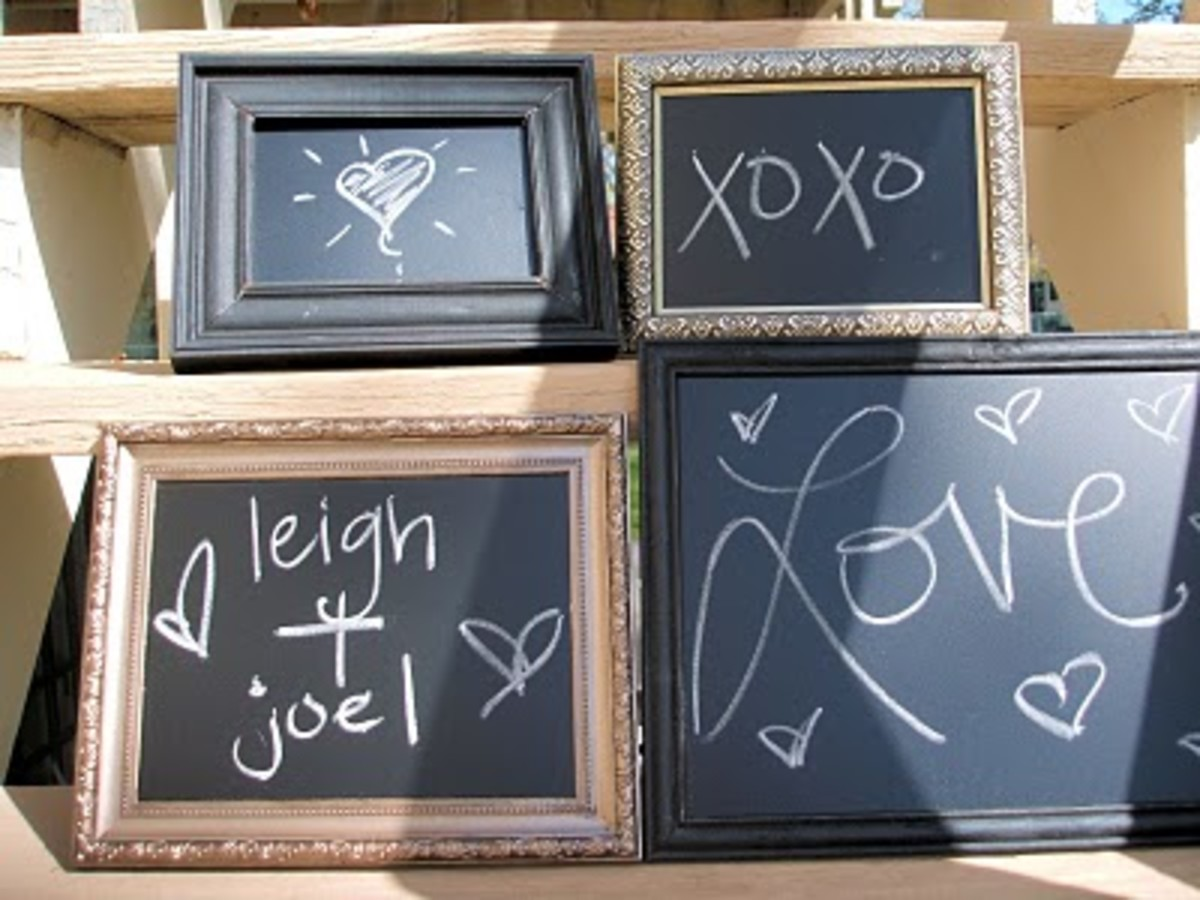 Clever Crafts and Decor Ideas Using Chalkboard Paint