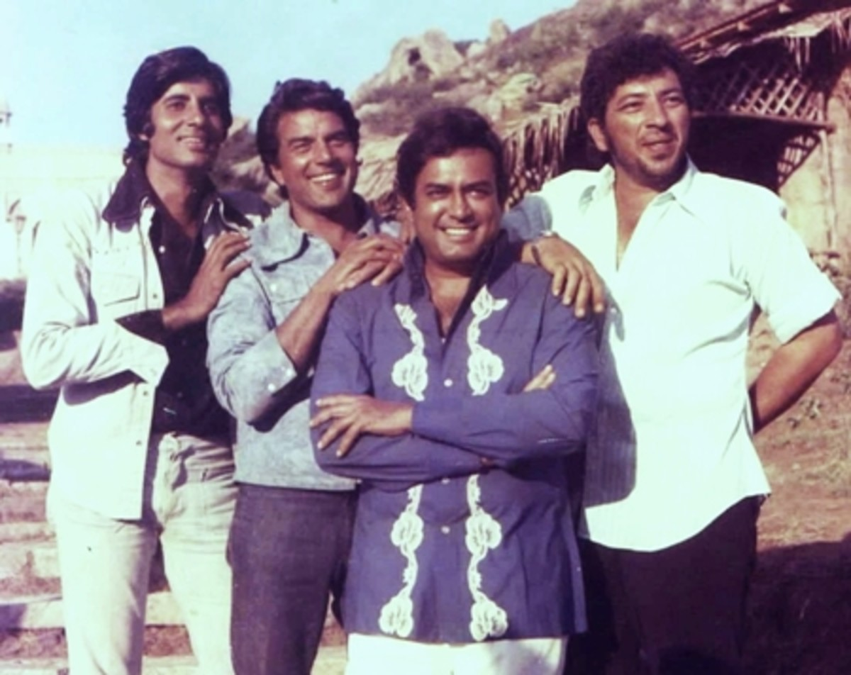 Amitabh Bachchan, Dharmedra, Sanjeev Kumar and Amajad Khan: The great actors of Sholay.