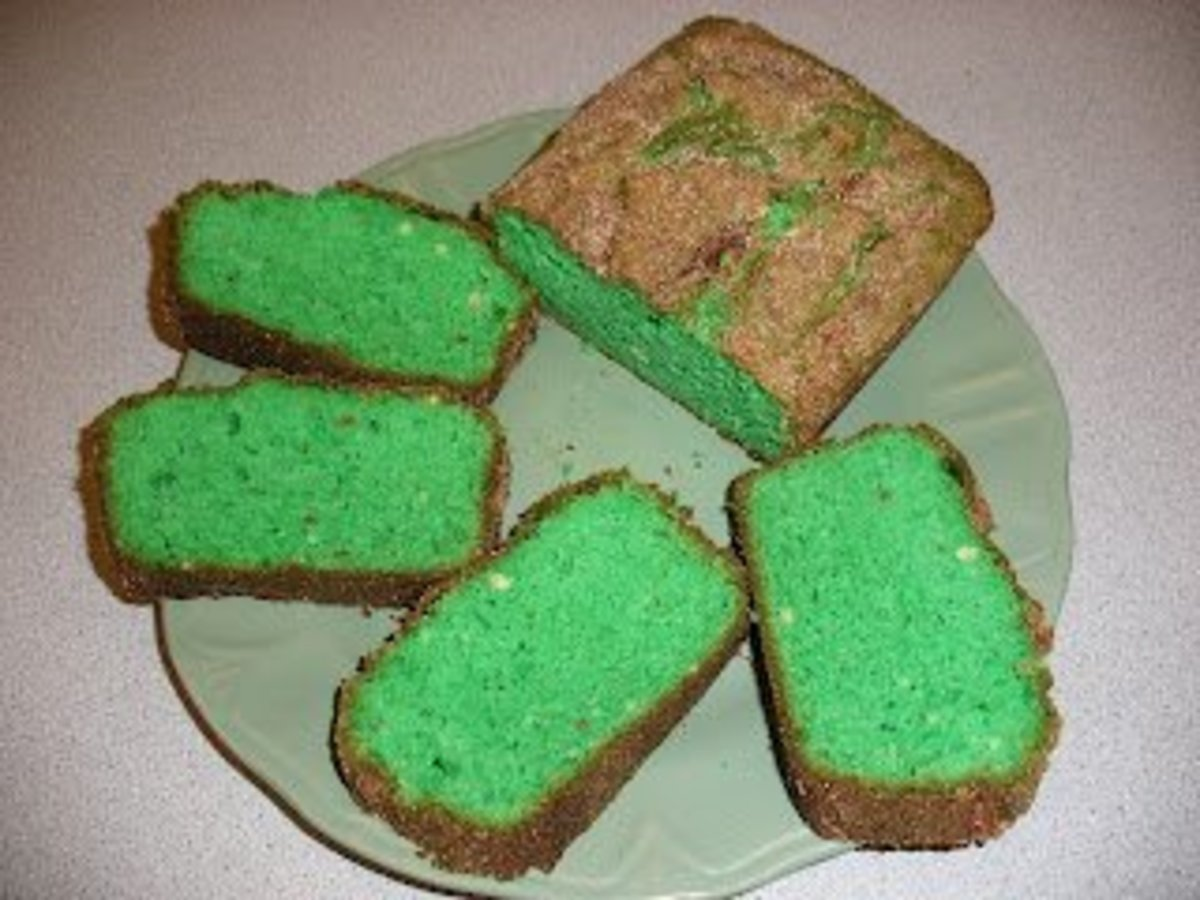 Green Pistachio Sweet Bread